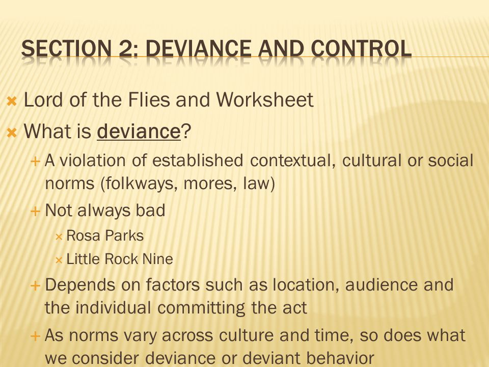 Chapter 8 Deviance Crime And Social Control Ppt Video