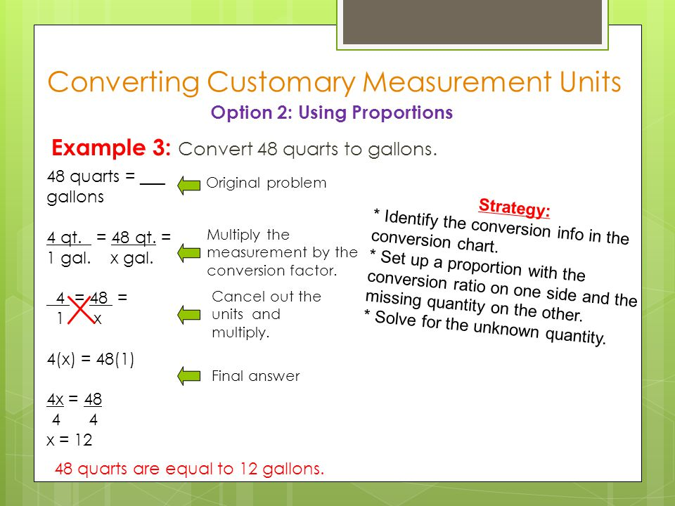 Converting Customary Measurement Units Ppt Video Online Download