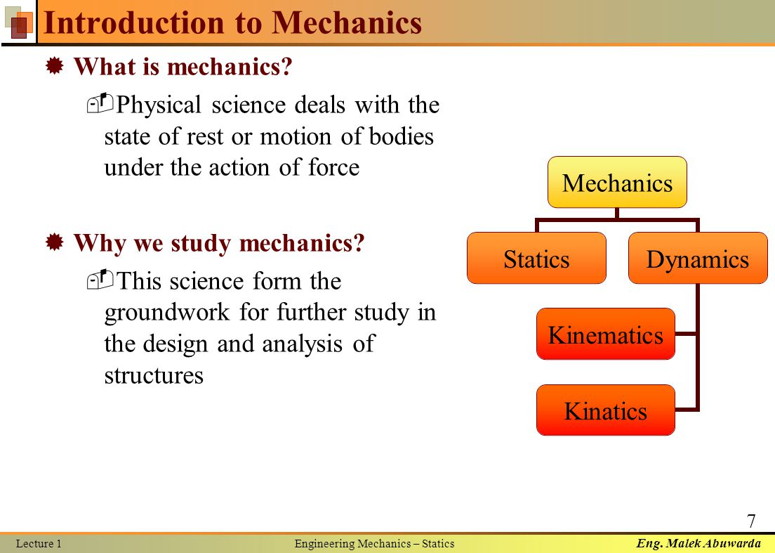 What is mechanics