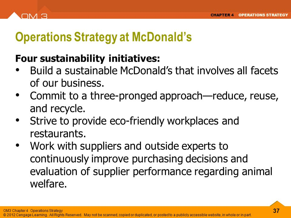 operational strategy of mcdonalds