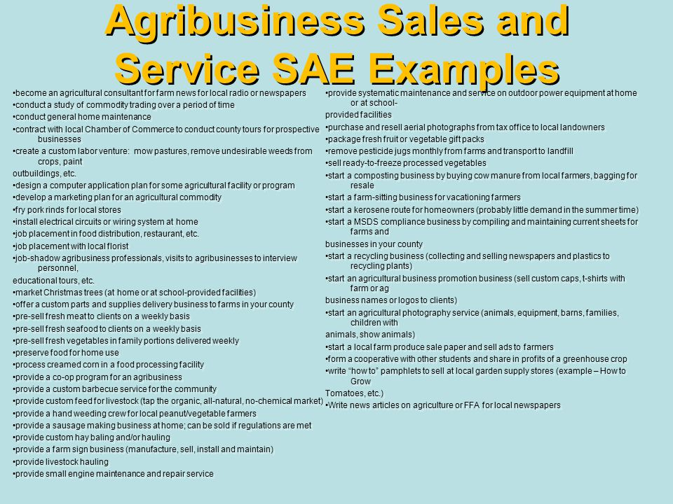 supervised agricultural experience ppt download