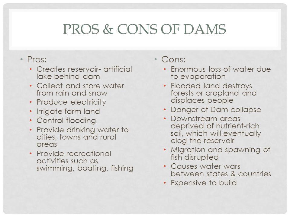 pros of dams