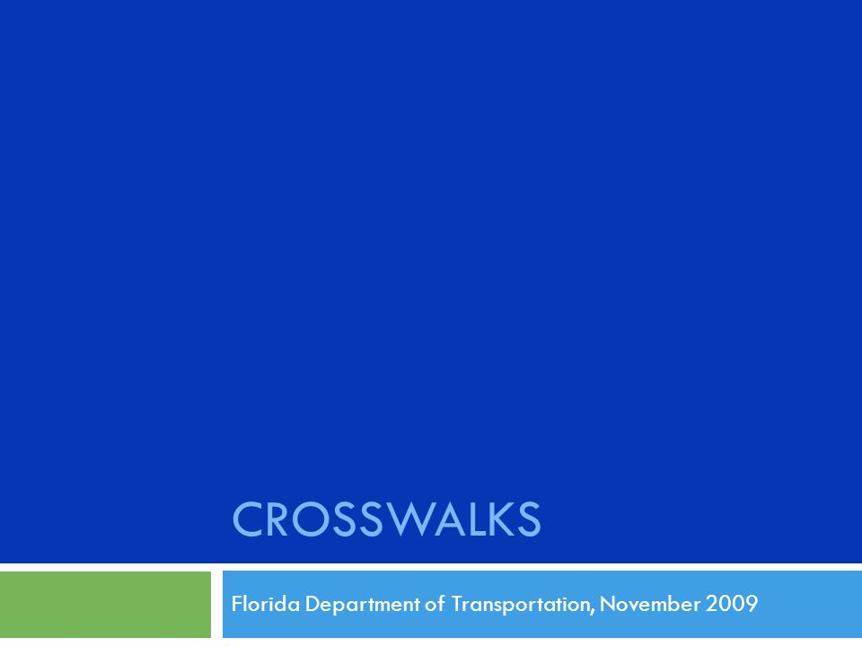 Florida Department of Transportation, November 2009