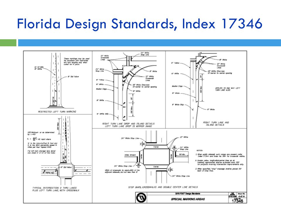 Florida Design Standards, Index 17346