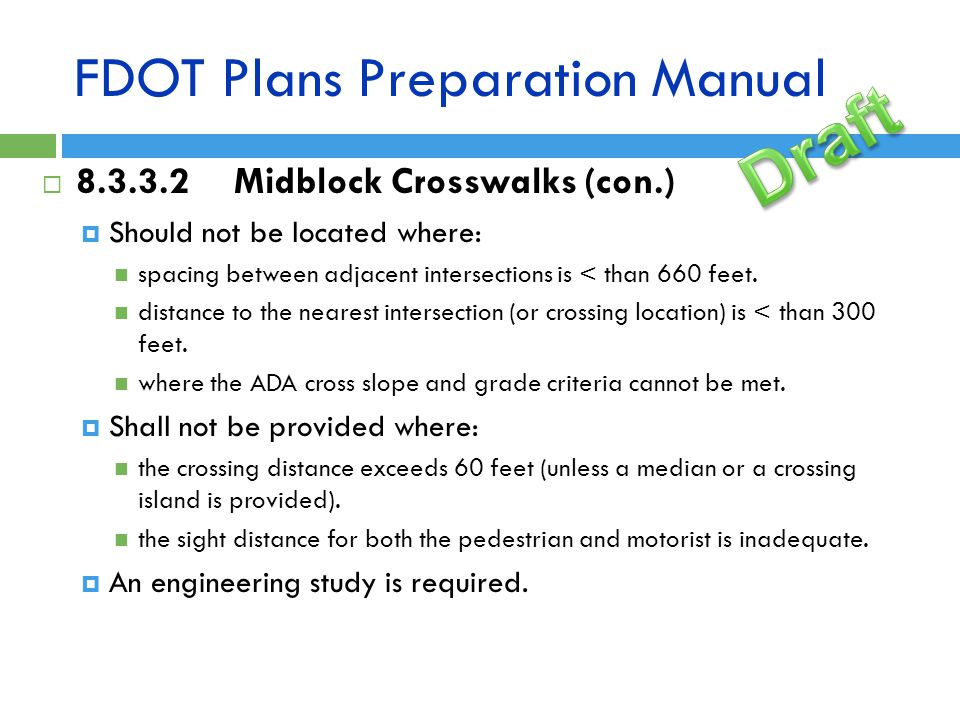 FDOT Plans Preparation Manual
