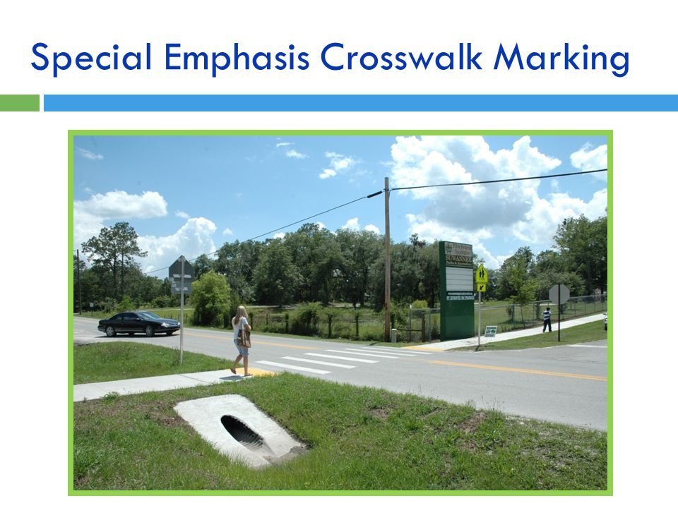 Special Emphasis Crosswalk Marking