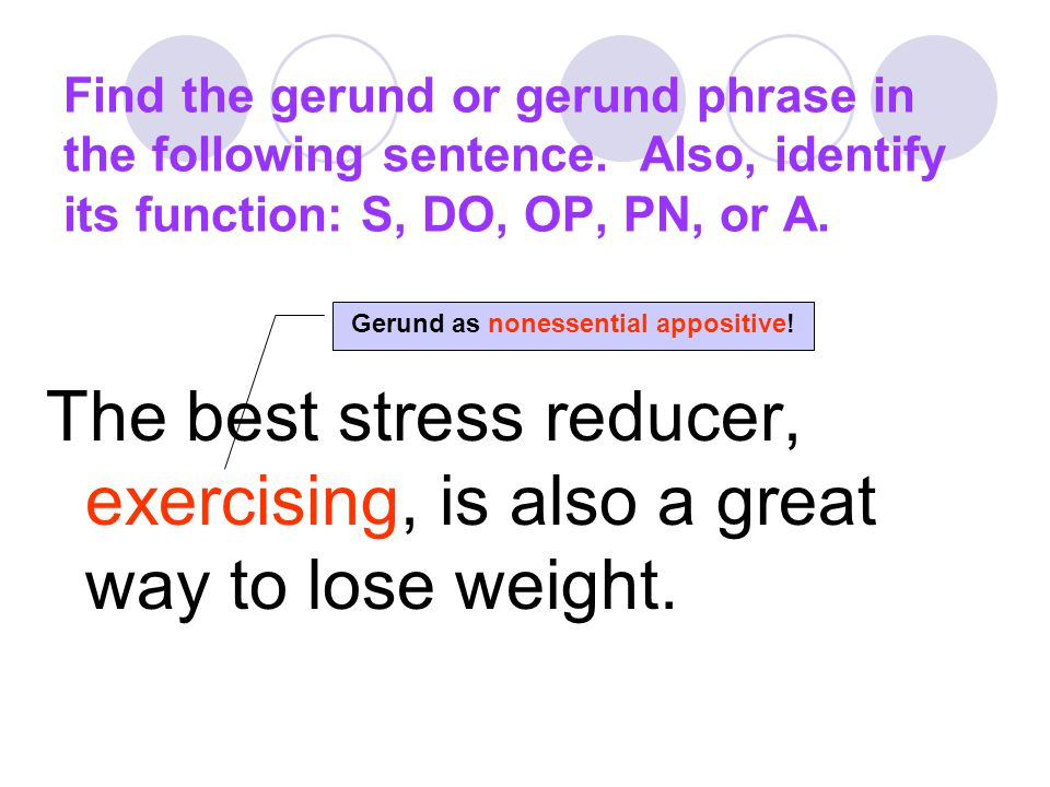 Gerund as nonessential appositive!