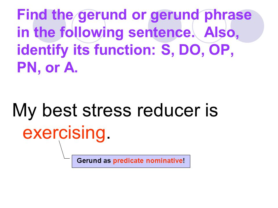 Gerund as predicate nominative!