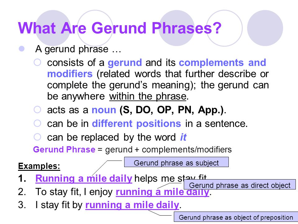 What Are Gerund Phrases