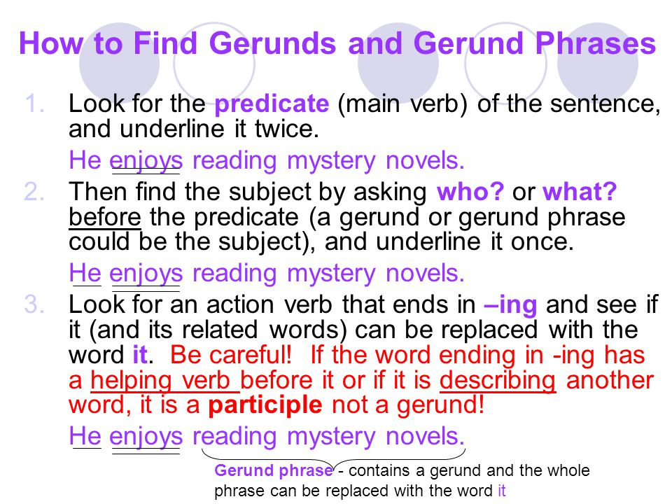 How to Find Gerunds and Gerund Phrases