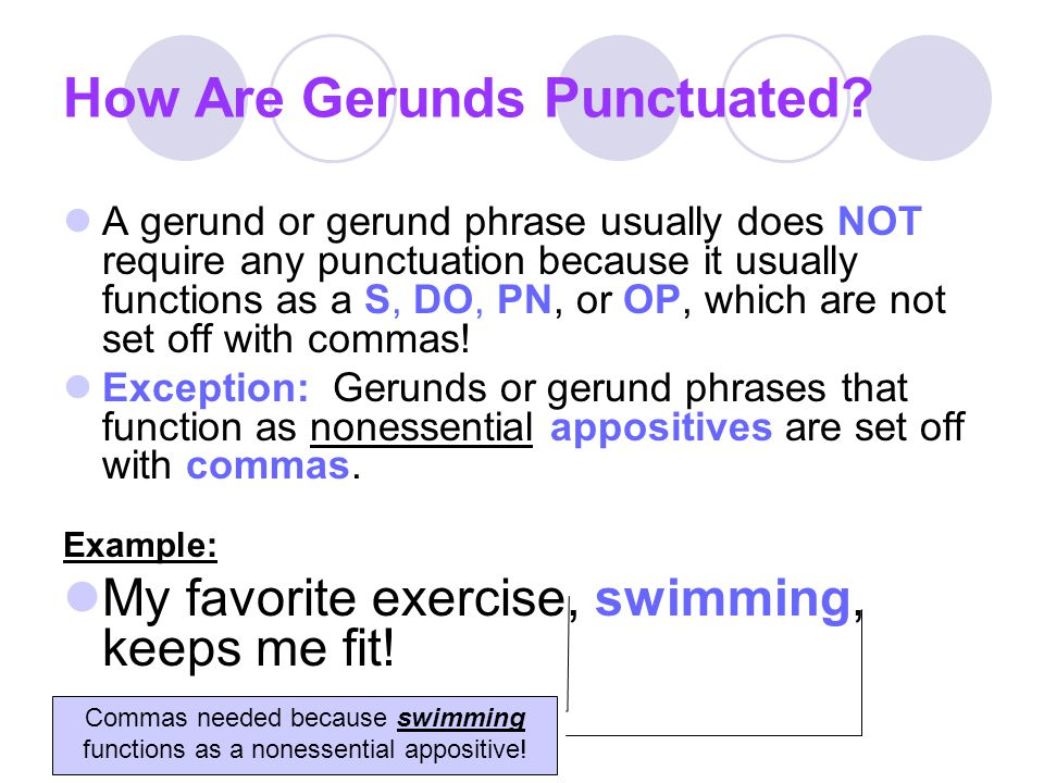 How Are Gerunds Punctuated