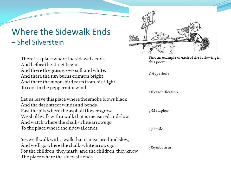 shel silverstein where the sidewalk ends - 960×720