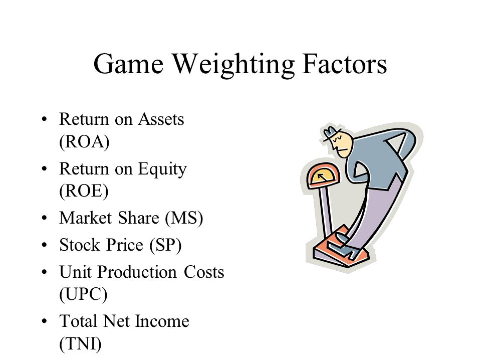 Game Weighting Factors