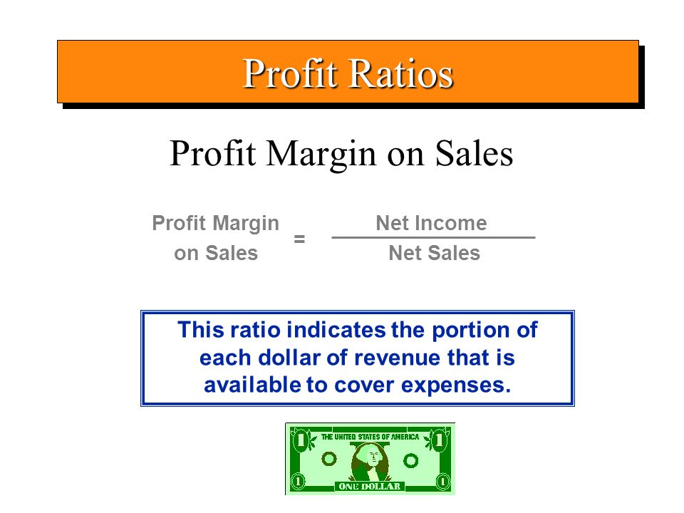 Profit Ratios Profit Margin on Sales