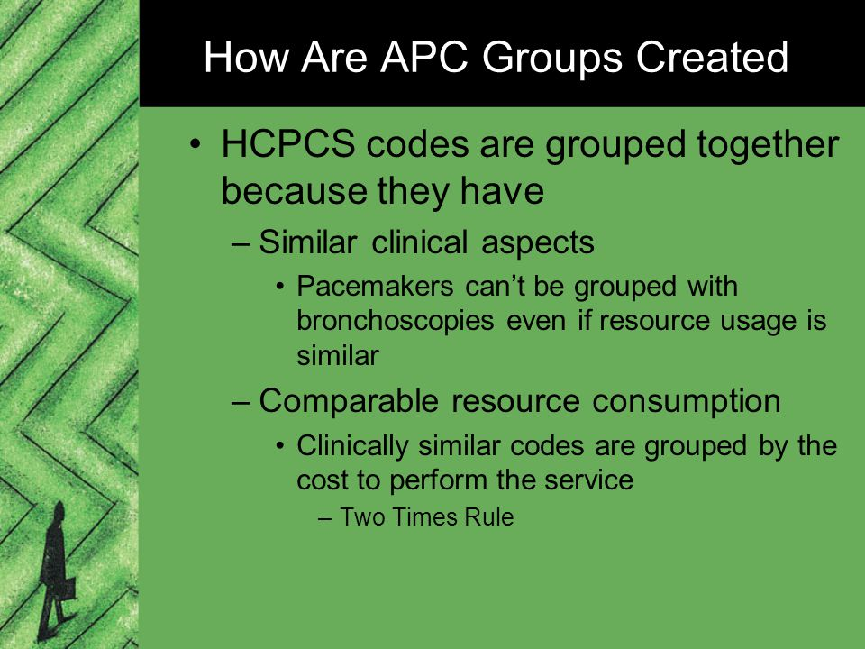 how is the two times rule applied to apc groups