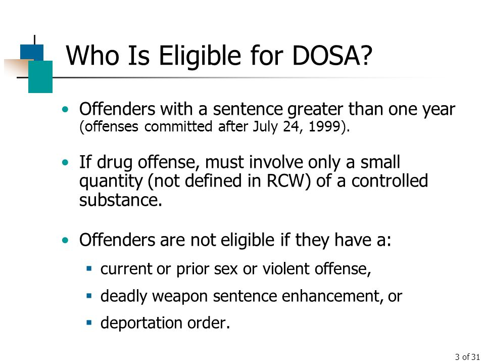 Who Is Eligible for DOSA