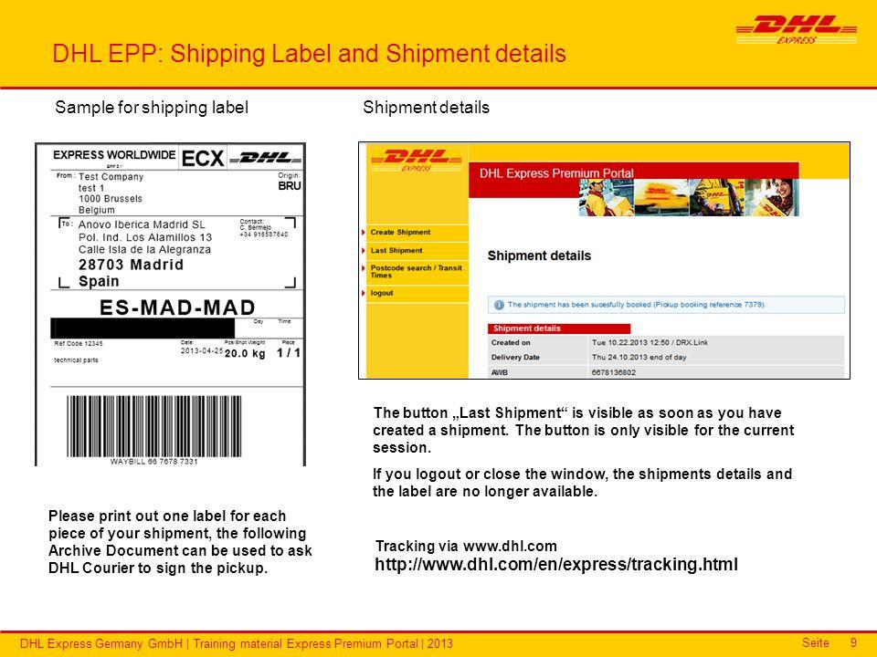 DHL Express Premium Portal Training material - ppt video
