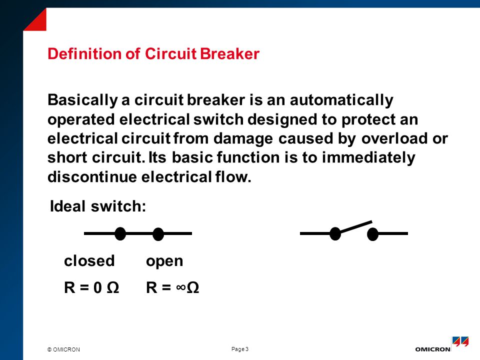 the function and principle of a circuit breaker engineering essay Engineering unit 4 principles of electrical and electronic  21 function: to generate an ac supply, to convert  circuit breakers to open/close system based on.