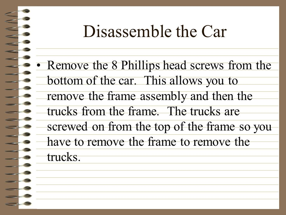 Disassemble the Car