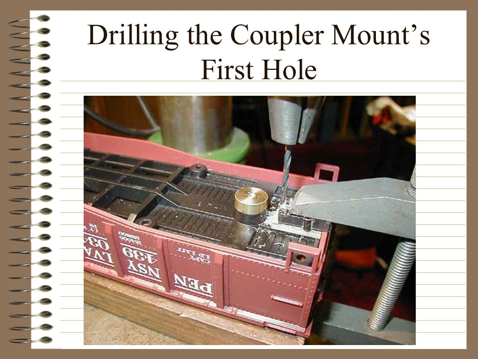 Drilling the Coupler Mount's First Hole
