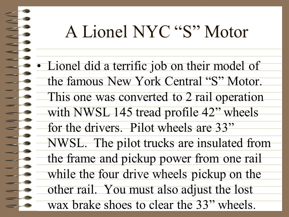 A Lionel NYC S Motor