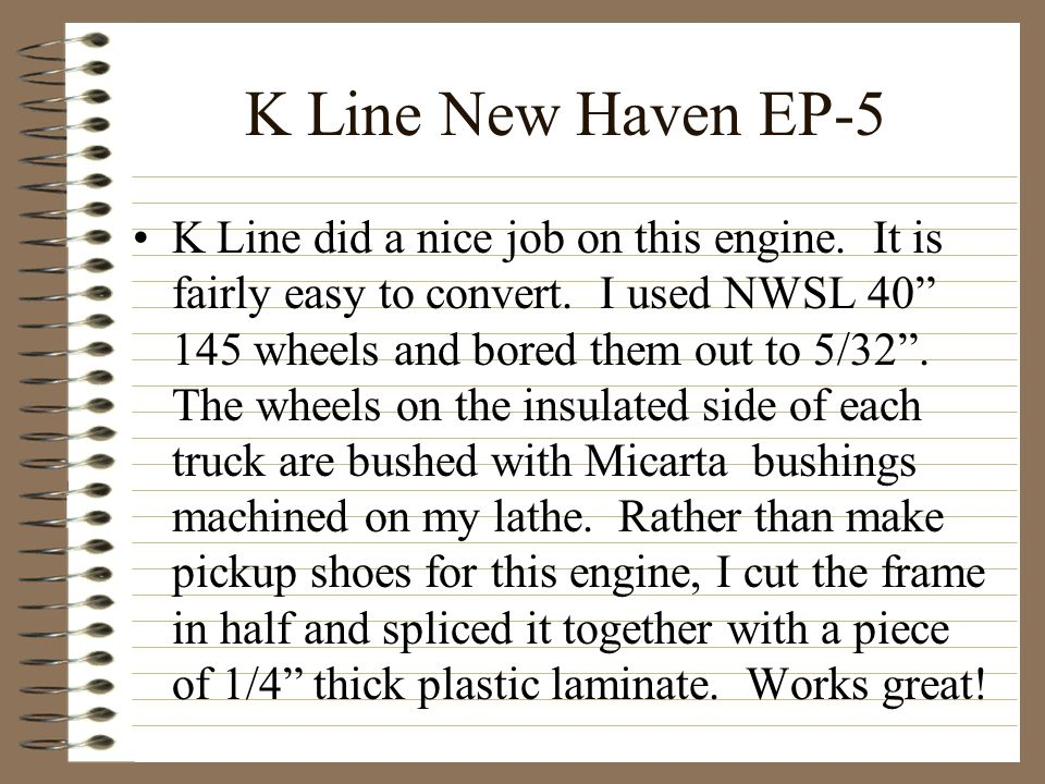 K Line New Haven EP-5