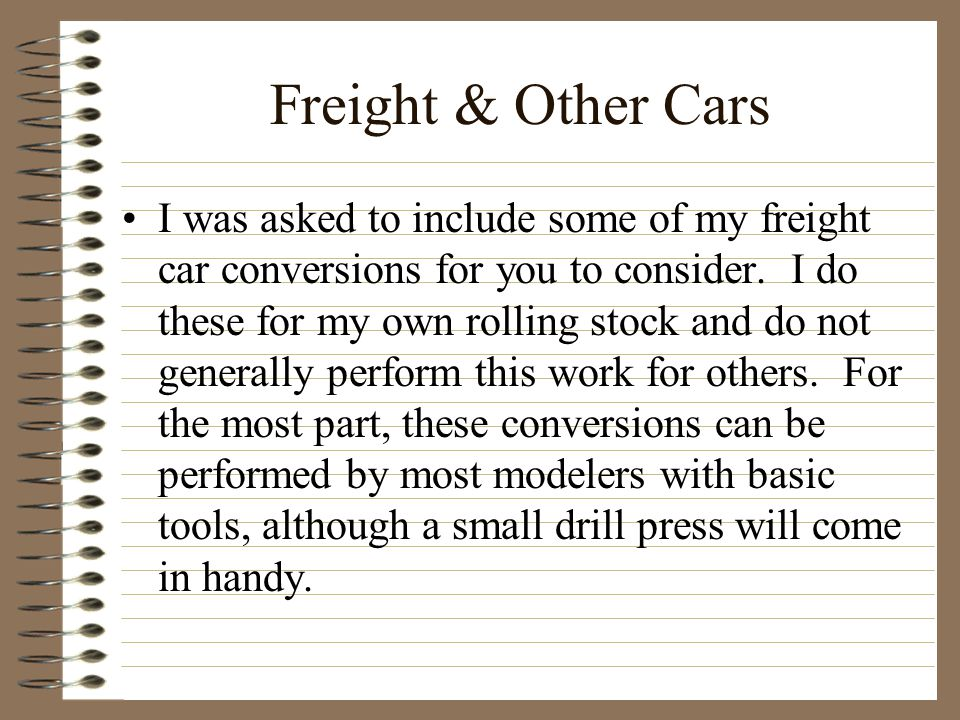 Freight & Other Cars