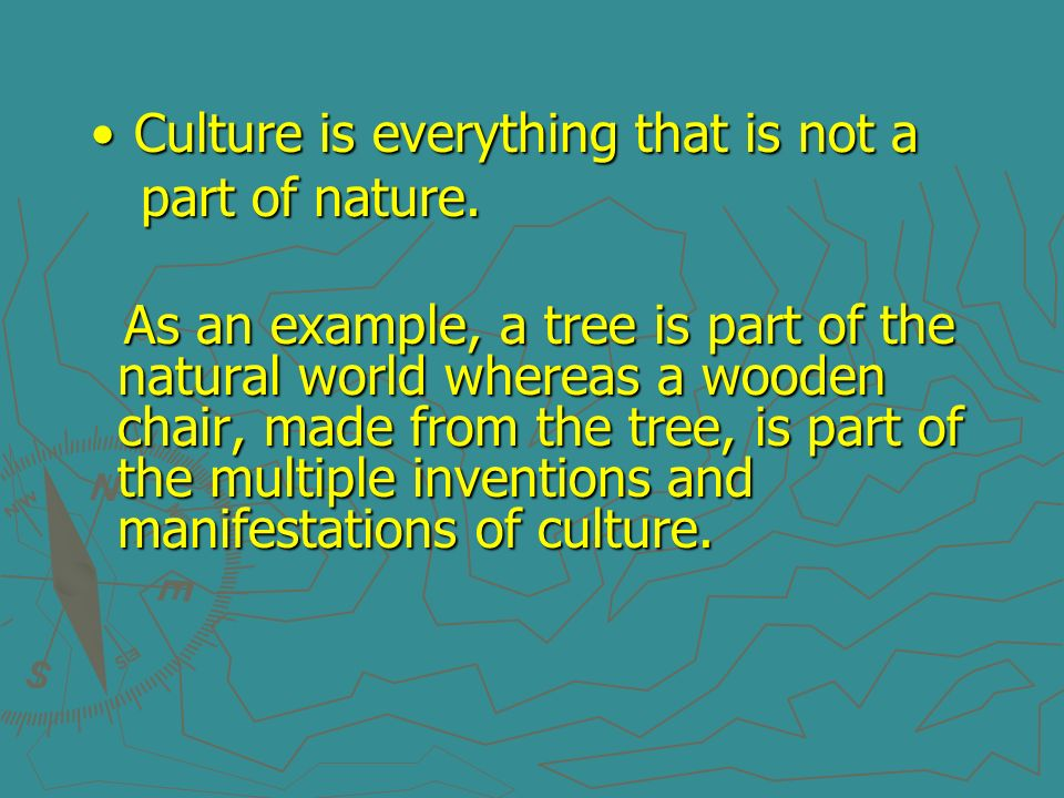Culture is everything that is not a