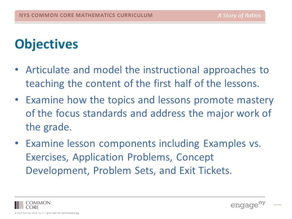 A Story of Ratios Module 1 Focus - Grade 6 - ppt download