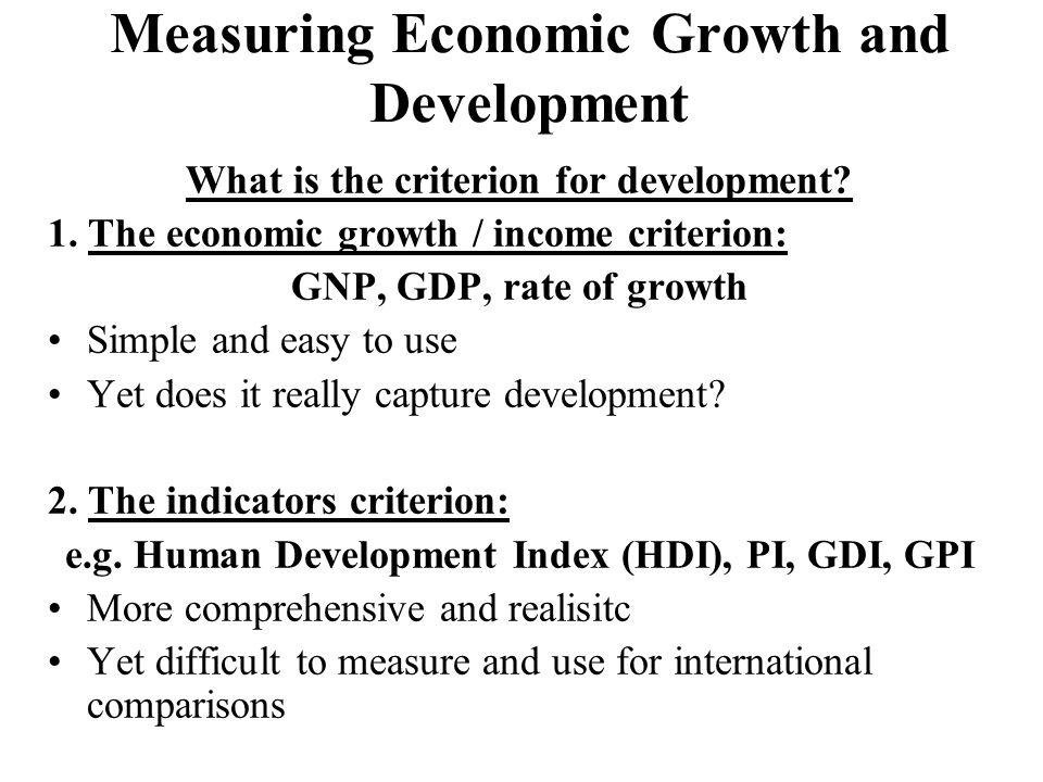indicators for measuring development
