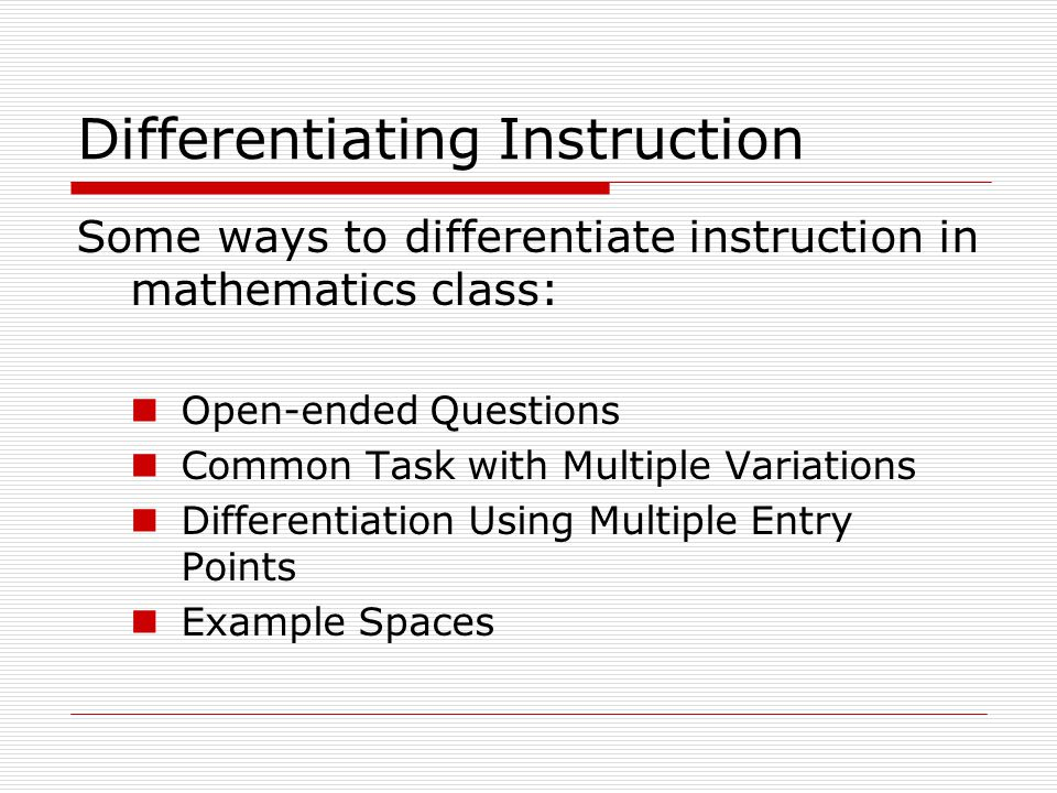 Differentiating Tasks Ppt Video Online Download