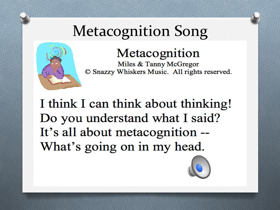 Metacognition Song