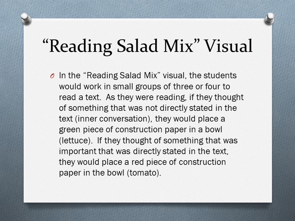 Reading Salad Mix Visual