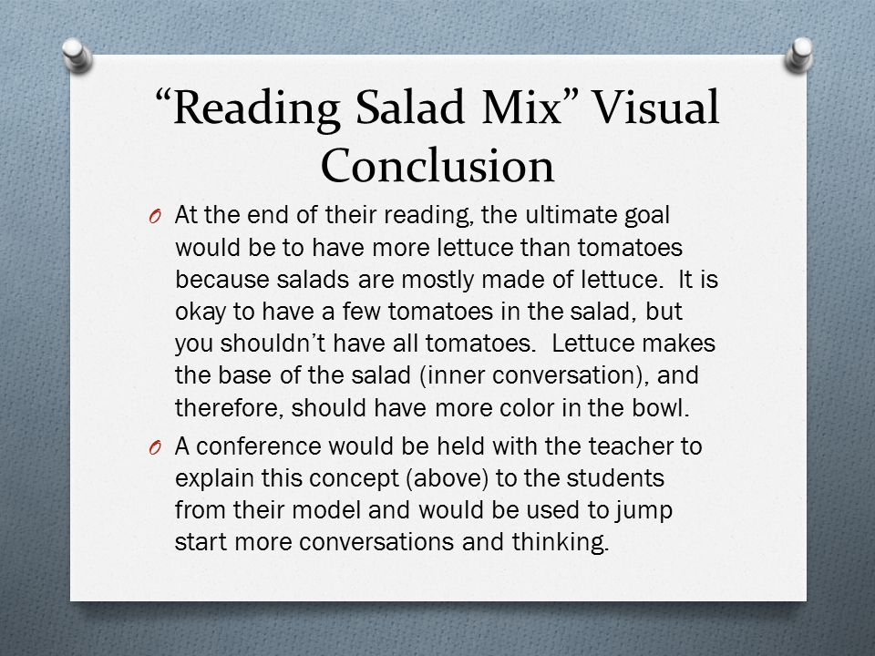 Reading Salad Mix Visual Conclusion