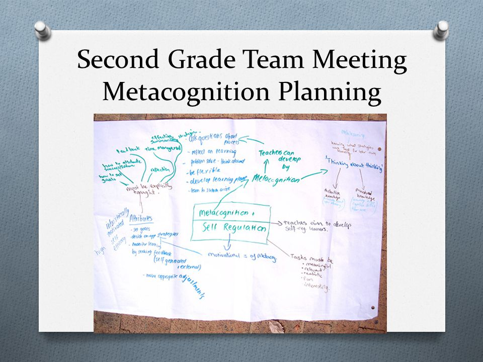 Second Grade Team Meeting Metacognition Planning