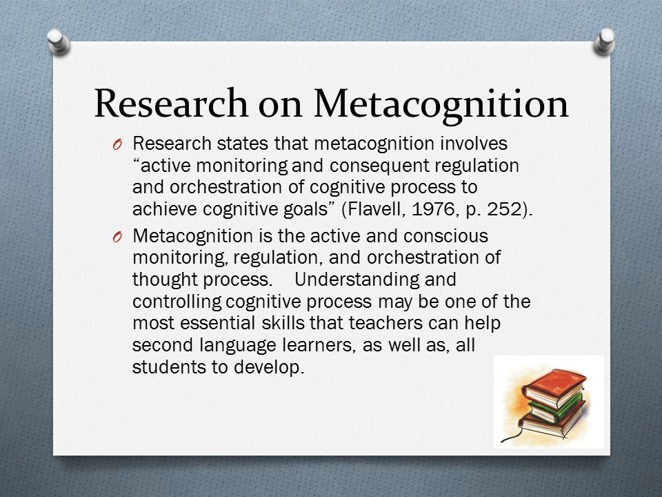 Research on Metacognition