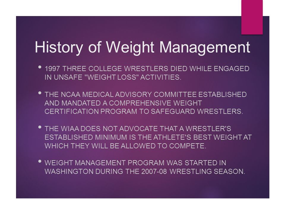 Wiaa Weight Management Program Ppt Video Online Download