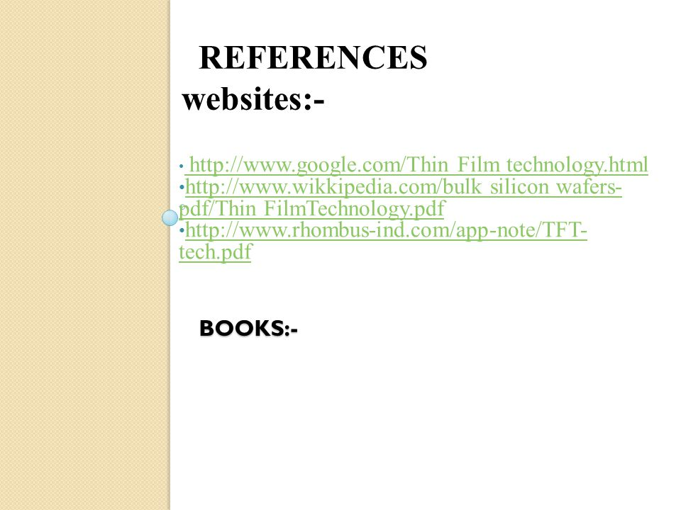 """THIN FILM TECHNOLOGY"""" - ppt video online download"""