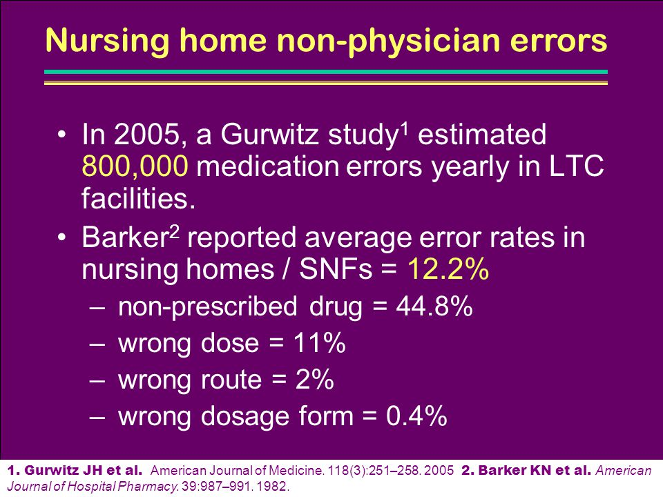 Nursing home non-physician errors