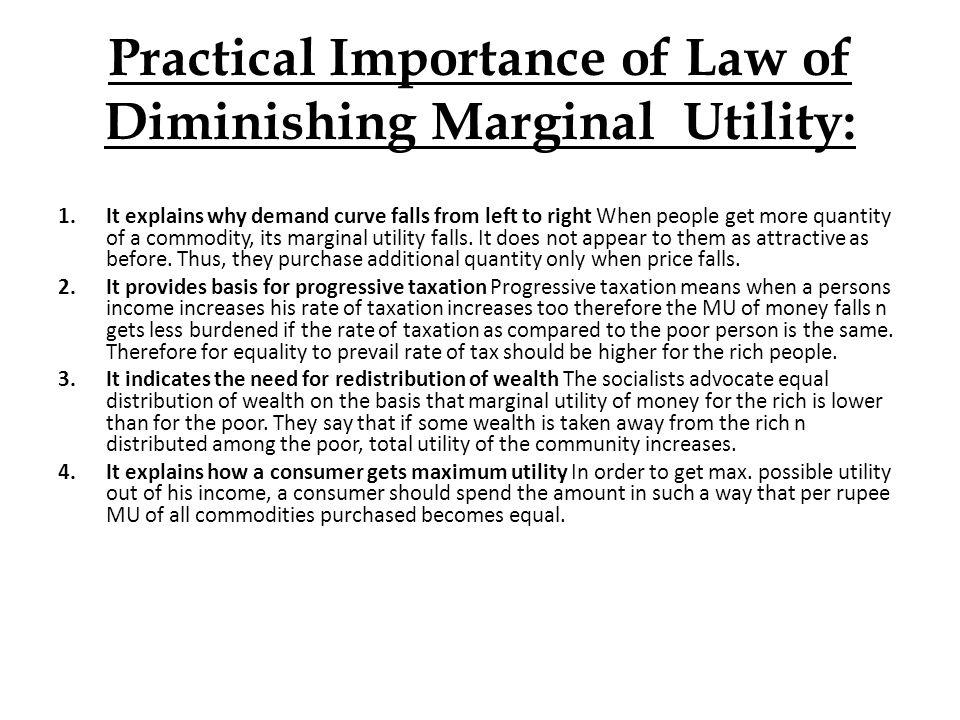 law of decreasing marginal utility