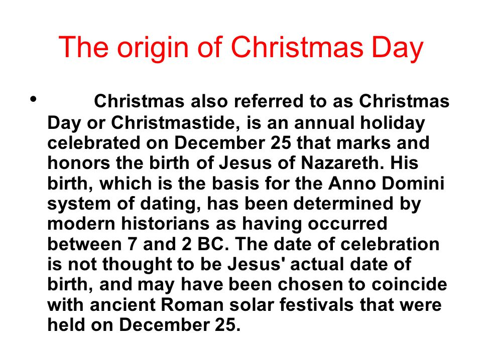 Origin Of Christmas.The Differences Between Christmas And Spring Festival Ppt