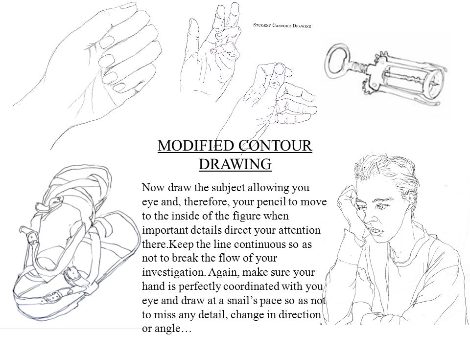 MODIFIED CONTOUR DRAWING