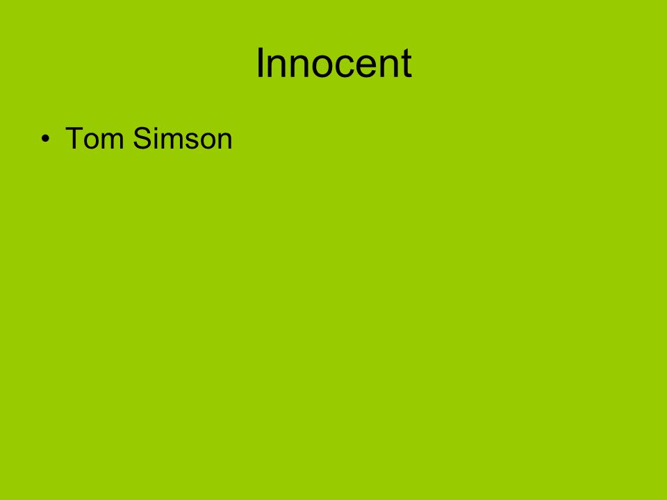 Innocent Tom Simson