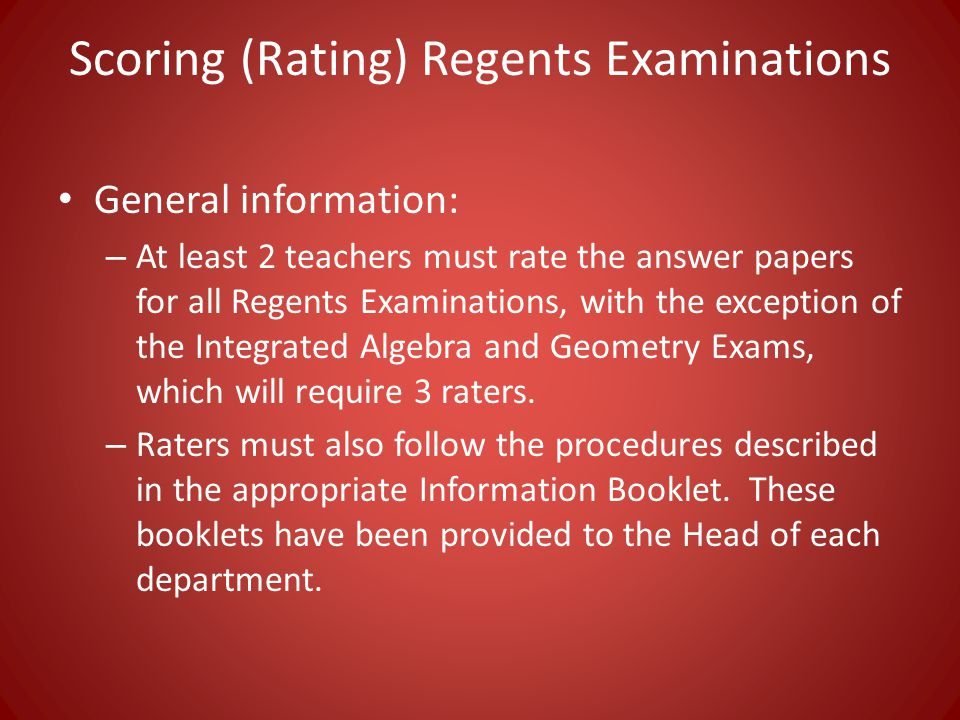 A guide to proctoring and scoring Regents exams - ppt video online