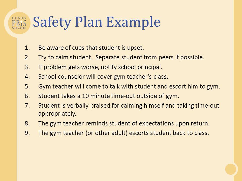 Student safety plan sample