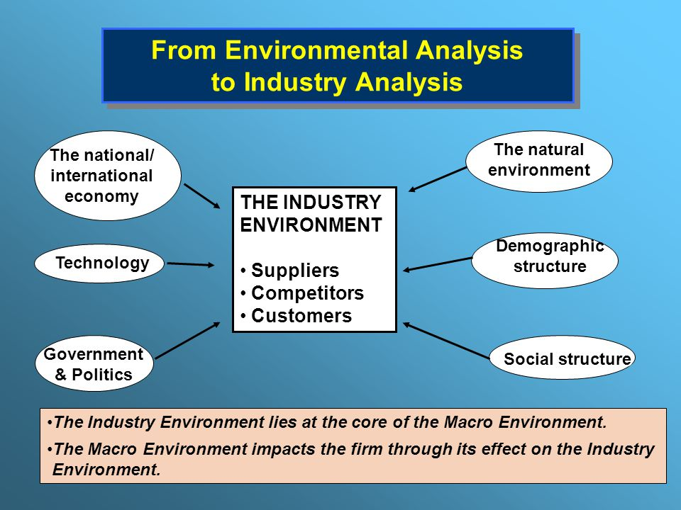industry environment analysis