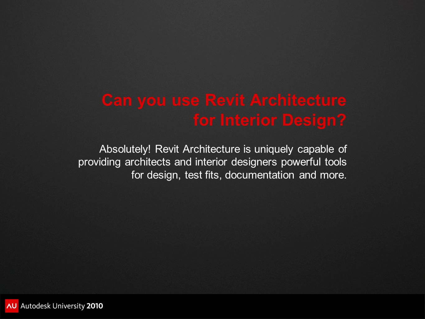 Can You Use Revit Architecture For Interior Design