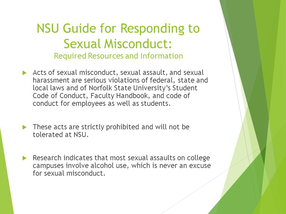 Student code of conduct and sexual harassment