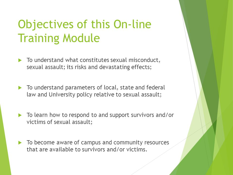 University sexual harassment training
