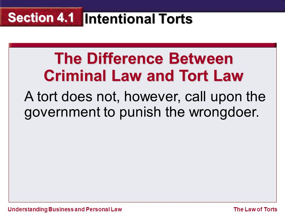 The Difference Between Criminal Law and Tort Law